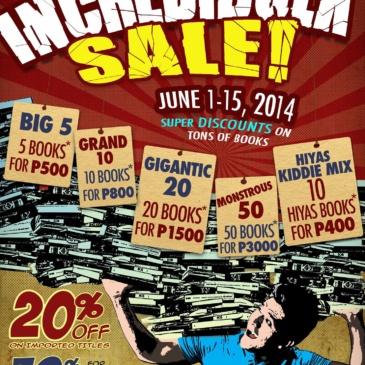 The Incredibulk Sale!