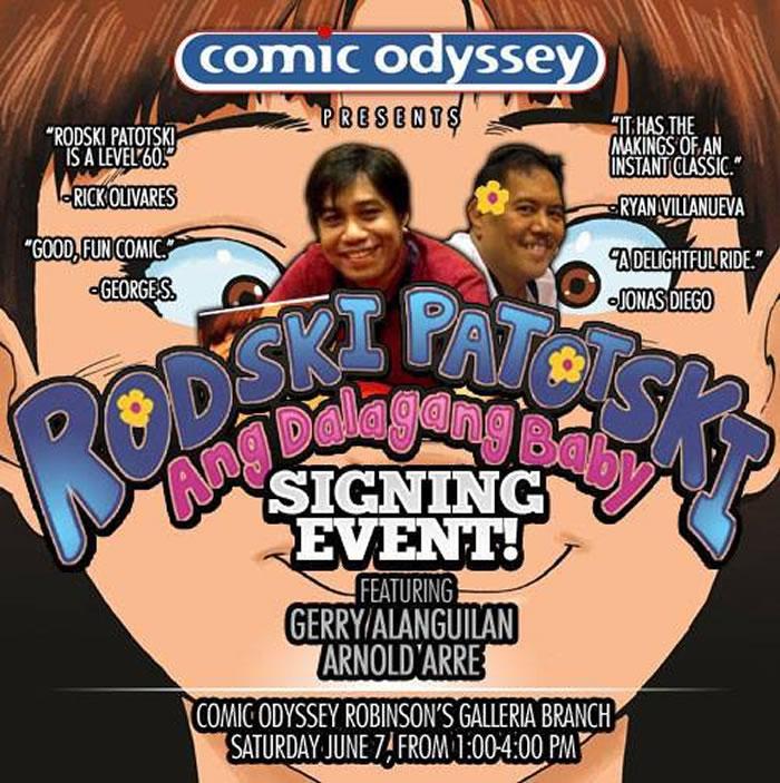 Rodski Patotski (Ang Dalagang Baby) Signing Event!