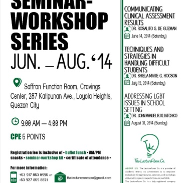 Seminar-Workshop Series