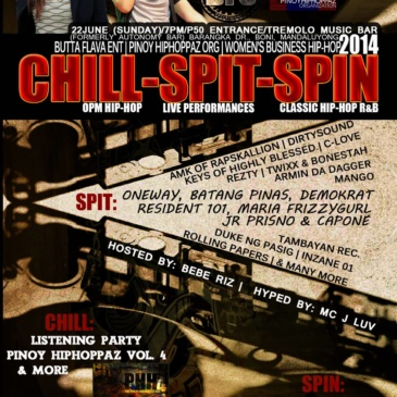 Chill, Spit, Spin
