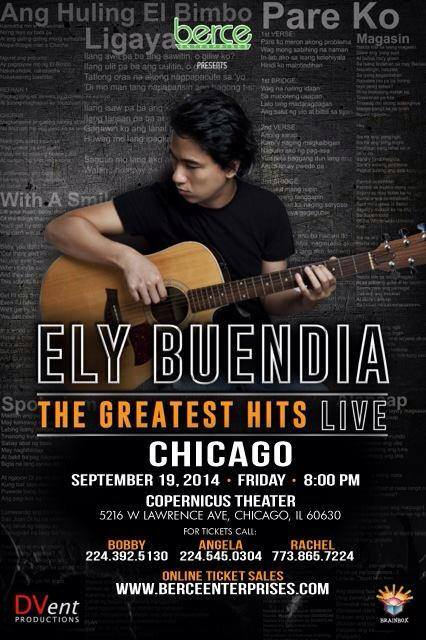 Ely Buendia: Greatest Hits Live in Chicago