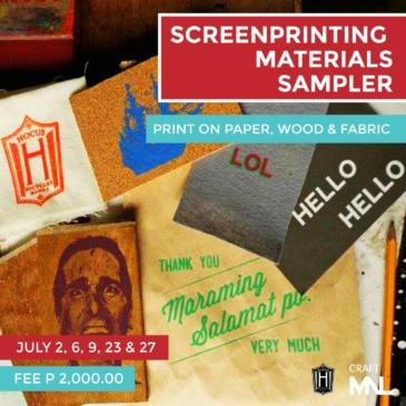 Screenprinting Materials Sampler