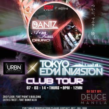 Tokyo EDM Invasion: The Club Tour x URBN Bar & Kitchen