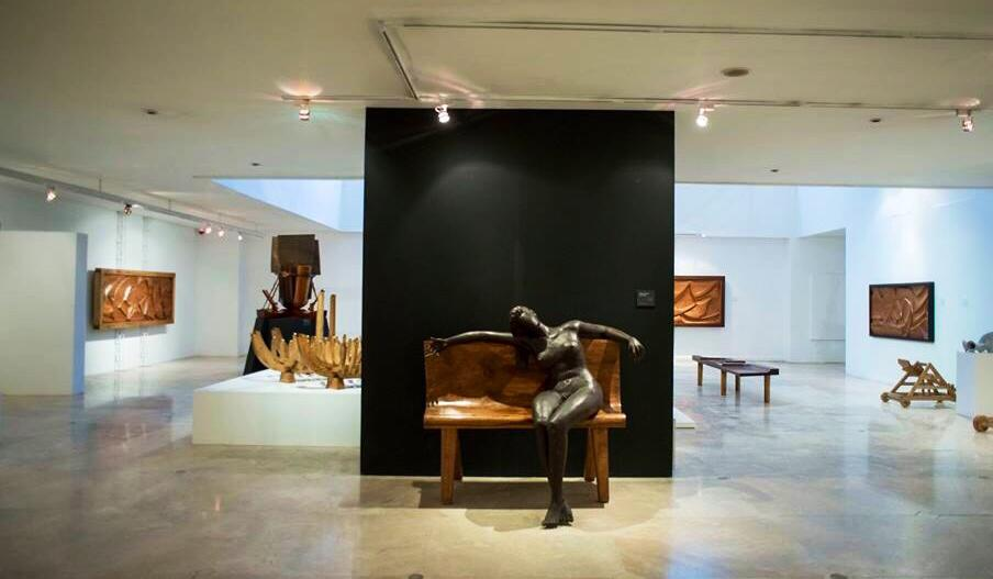 """The Metropolitan Museum of Manila during the """"Abueva: The Power of Form"""" Exhibition  MET Tall Galleries Nov. 26, 2013- Feb. 28, 2014"""