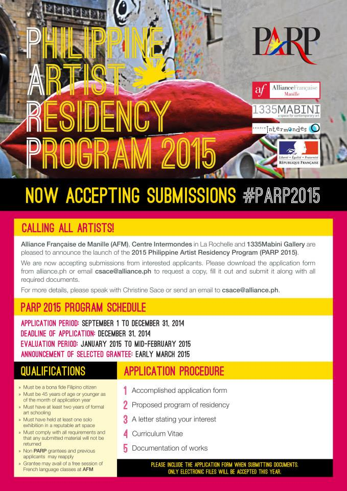 Philippine Artist Residency Program 2015