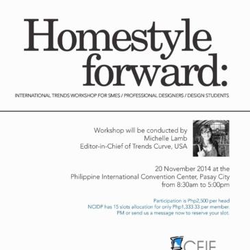 Homestyle Forward: International Trends Workshop for SMEs/Professional Designers/Design Students