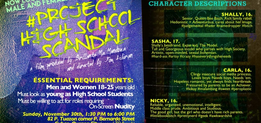 Project High School Scandal 2nd Casting Call
