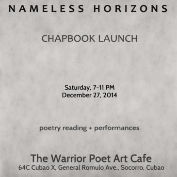 Nameless Horizons | Chapbook Launch
