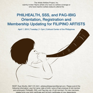 Philhealth, SSS, Pag-ibig Orientation, Registration and Membership Updating for Filipino Artists