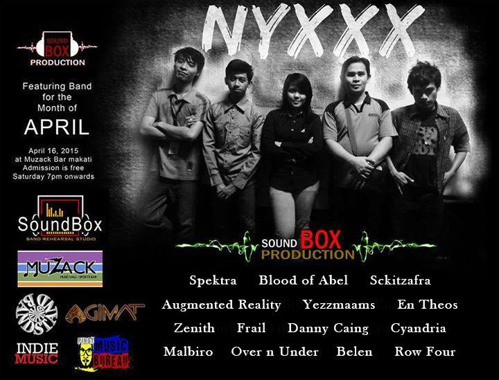 """""""NYXXX"""" Sound Box Featuring Band for the Month of April"""