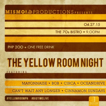 The Yellow Room Night at The 70's Bistro