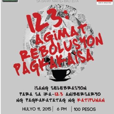 123: Agimat, Rebolusyon at Pagkakaisa