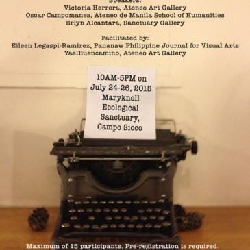 Art Writing Workshop in Baguio City