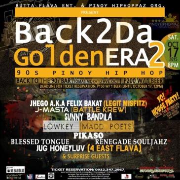 #Back2DaGoldenEra2: 90s Pinoy Hip Hop