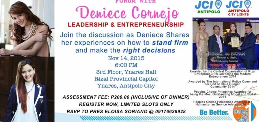 Forum on Leadership and Entrepreneurship with Deniece Cornejo