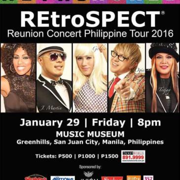 REtroSPECT Reunion Concert Philippine Tour 2016
