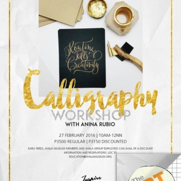 Calligraphy Workshop with Anina Rubio