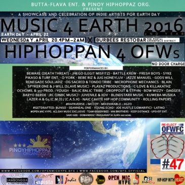 Music4Earth2016 x Hiphoppan4OFWs