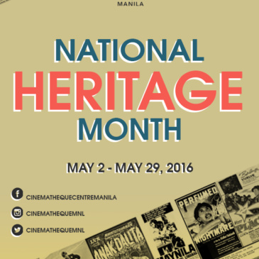 Cinematheque Centre Manila Features Filipino Classics for National Heritage Month