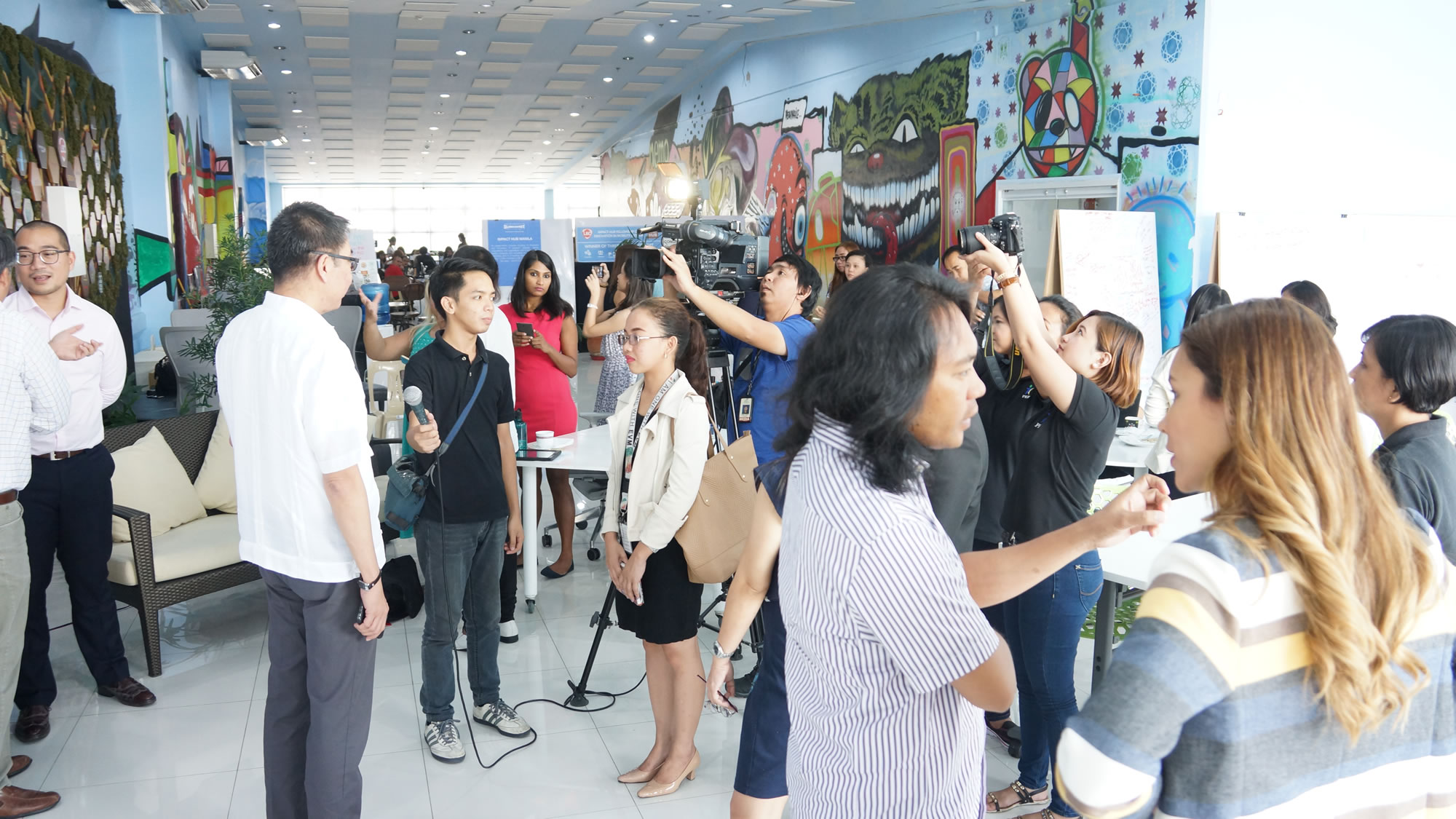 Media interviews.