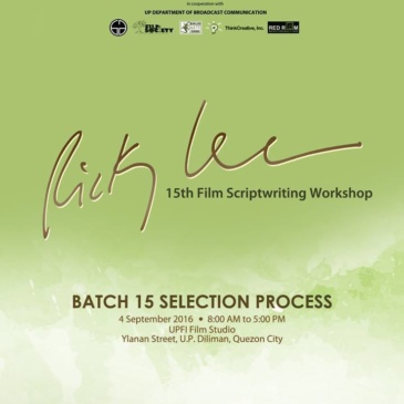 Ricky Lee workshop selection process set on Sept. 4