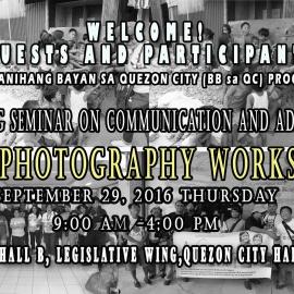 Free Basic Photography Workshop