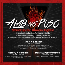 ALAB NG PUSO: Stand Up for Human Rights!