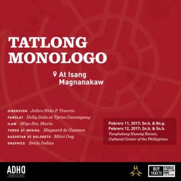 Tatlong Monologo at Isang Magnanakaw