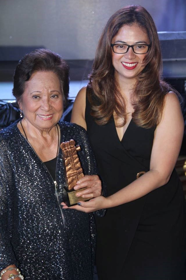 Film Ambassador Gloria Sevilla with FDCP Chair and CEO Liza Diño