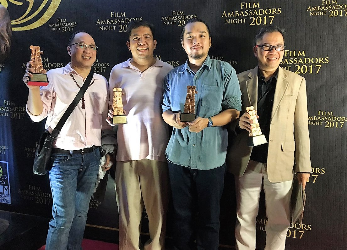 Film Ambassadors Ferdinand Lapuz, Seymour Sanchez, Carlo Catu and Robby Tantingco