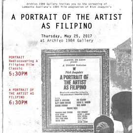 Film Screening: A Portrait Of The Artist As Filipino