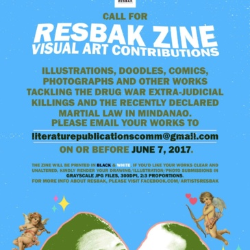 Call for Resbak Zine Visual Art Contributions