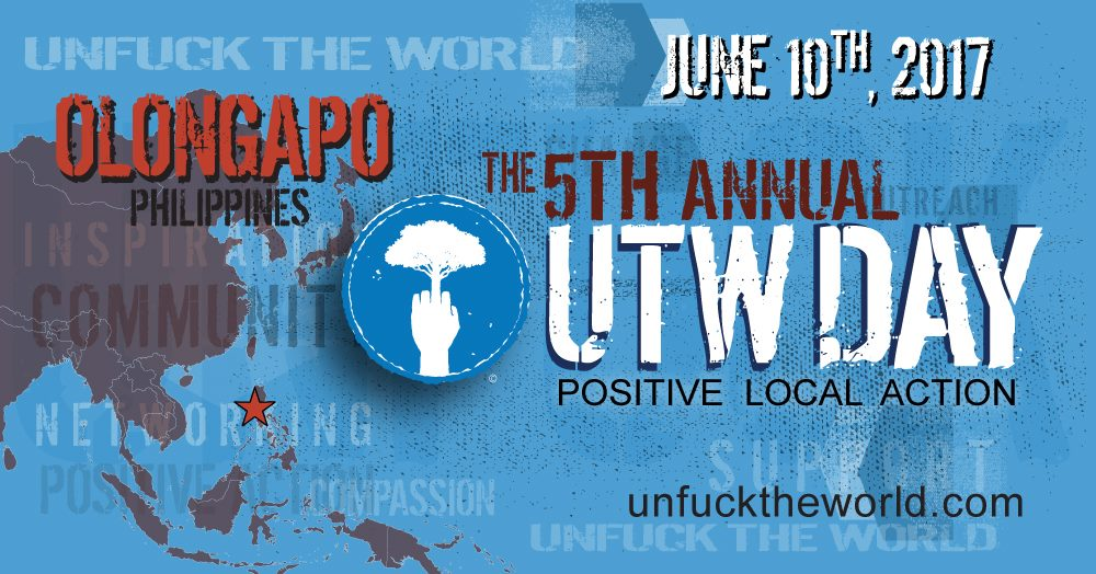 5th Annual UTWday 2017 Public · Hosted by Raggapo clock June 10 – June 11 Jun 10 at 6 PM to Jun 11 at 9 PM pin Mampueng Tribal Village About Discussion 89 Going · 72 InterestedSee All Bernard, Roy and 2 other friends are going Share Share In Messenger To: Names Type a message... Make a Plan Send Details We, the Unfuck The World Movement Philippines and Raggapo of Olongapo/Subic Bay, would like to invite you to be part of our 5th Annual Celebration of UTWday on June 10, 2017. Since 2013, UTWday has been an annual celebration spanning different groups and communities around the world. Maike Both, founder of Unfuck The World, based in Los Angeles, California, started a community-based t-shirt project that creates ripples around the world and generates positive change to people's live and their immediate communities. UTW Philippines has been involved in environmental clean-ups, tree planting, medical mission, feeding programs and outreach missions in and around Zambales - to the far-flung communities of our Aeta brethren. We need a new breed of young leaders that would be a vital force heralding our shared tomorrow, focusing on: environmental and cultural development, education, finding solutions to plastic waste and garbage management, self-sustainable living, and, to encourage others to be part of the movement and celebrate life! For the event, we will also have guest speakers discuss issues regarding: Environmental Awareness Campaign; Self Sustainable Living (Agriculture and Permaculture); and others. Musicians and performers will also smash the stage coming from Olongapo, Zambales, Pampanga, Manila, Baguio, Las Pinas, and neighbouring provinces, performing artist group - SAWAKAS THEATRE GROUP, and other visual artists. Different kinds of ARTS will be exhibited during the event, some are for display purposes and others for sale. The main benefactors of the UTWday 2017 event will be the Aeta children and select communities in Olongapo City/Zambal