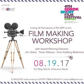 4TH SSFF Filmmaking Workshop