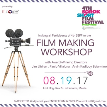 4TH SSFF Filmmaking Workshop