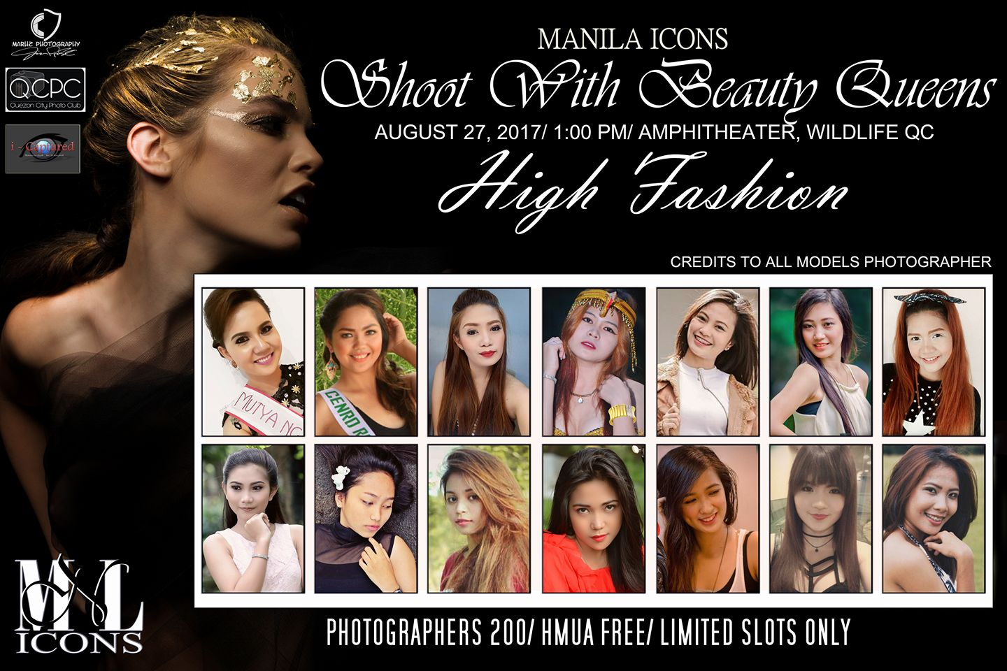 Mar Porras‎Quezon City Photo Club Follow · 16 hrs · Shoot With Beauty Queens MNL Icons In house Models, August 27, 2017(Sunday), 1:00 pm sharp Amphitheater Wildlife QC Photographers (200php/limited slots only)... See More — with Anne Dapito, Alemohr Dilanila, Alison Salvante Arro, Rina Mae Lao Saltarin, Chanel Florentino, Cyrah Rama, Jane Echaluce, Cj Lee Franco, Princezs April and Rona Malaluan Magan. --- Vladimir E Estocado ‎QCPC XXX eXciting eXtraordinary eXperience 14 hrs · With Candelaria Cherry Ann, Alison Salvante Arro, Chanel Florentino, Daisy Gimena Paraiso, Jane Echaluce and Princezs April.