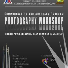 Communication and Advocacy Program Photography Workshop