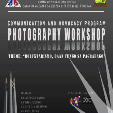 Communication and Advocacy Program Photography Workshop
