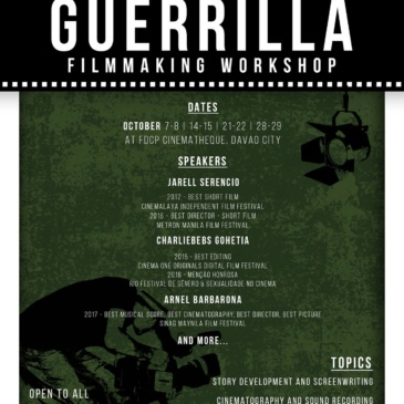 13th Guerrilla Filmmaking Workshop