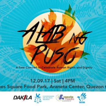 Celebrate Human Rights at the Alab ng Puso Concert!